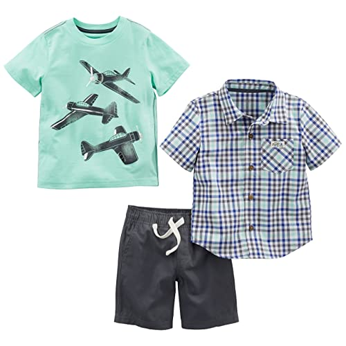 and Shorts Playwear Set Shorts Sets Tee Simple Joys by Carters boys 3-Piece Button Up