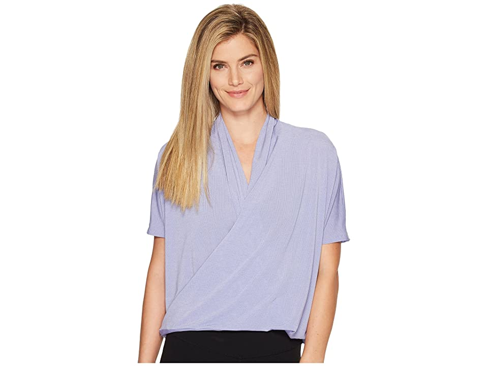 Lucy Yoga Flow Short Sleeve (Cool Lilac) Women