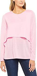 French Connection Women's Double Layer Tee, Pink (