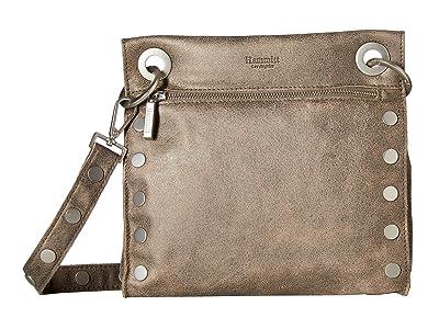 Hammitt Tony Med (Pewter Leather/Brushed Silver Hardware) Handbags