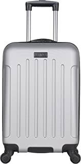 """Heritage Travelware Lincoln Park 20"""" Abs 4-Wheel Carry on Luggage, Light Silver"""