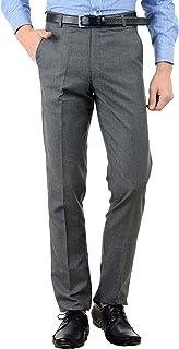 American-Elm Men's Basic Cotton Formal Trouser