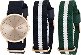 Lacoste Women's Gold Dial Fabric Band Watch - 2010955