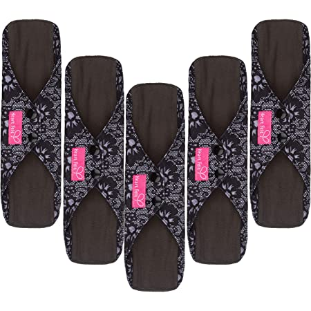 7 9 10 12 14 16 Inch Cloth Menstrual Pad Colorful Butterflies