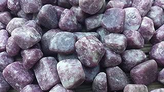 [A&S Crystals] SIX (6) LEPIDOLITE TUMBLED STONES MEDIUM/LARGE NATURAL TUMBLE STONES