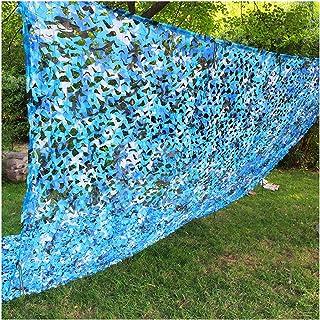 Red de Camuflaje Azul, Poliéster Oxford Reforzado Malla Camuflaje Militar Red de Sombra para Invernadero Patio Jardín Tras...