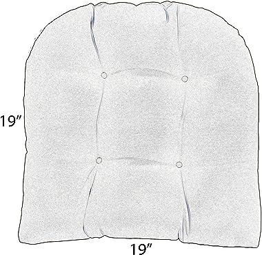 RSH Décor Sunbrella Indoor Outdoor 2 pk Wicker Patio Chair Seat U-Shape Cushion Pillow Water Resistant Pad - Choose Color (Ca