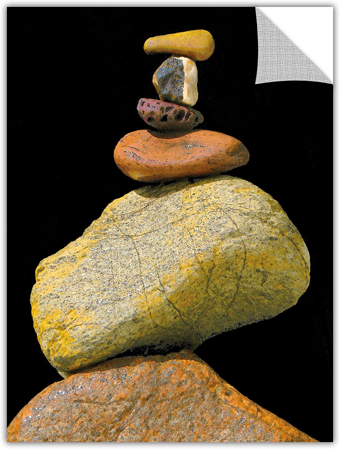 ArtWall ArtApeelz Cairn Study  Removable Graphic Wall Art by Dean Uhlinger, 18 by 24Inch