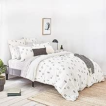 Splendid Home Crosshatch Duvet Set, King, Ivory
