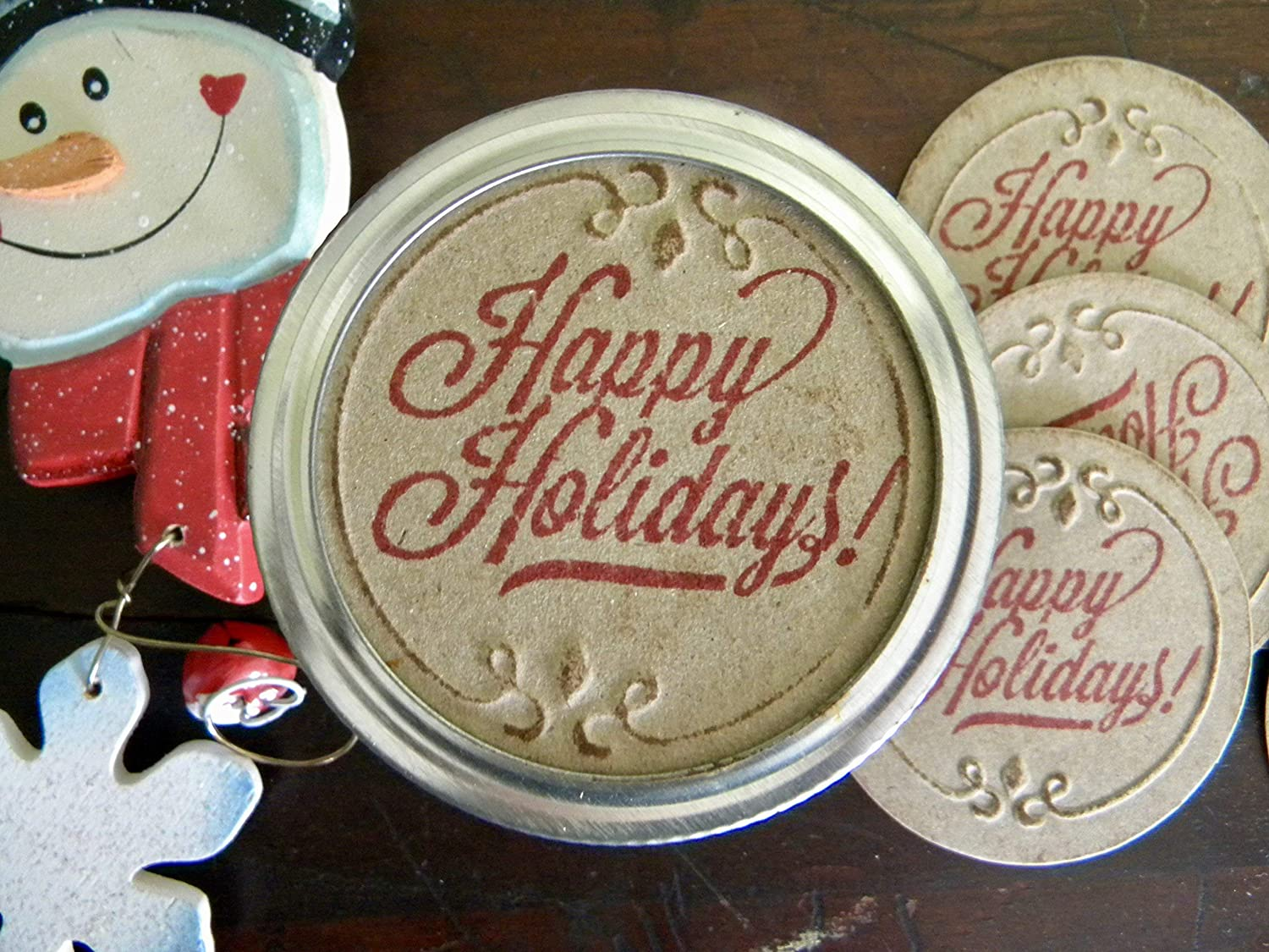 Regular Mouth Mason Jar Discount mail order Canning Stickers Labels New arrival Happy To Holiday