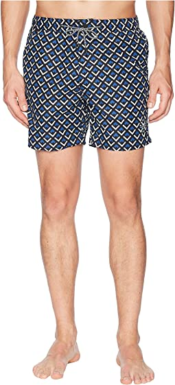 Scotch & Soda - Medium length Mini-Motif Swim Shorts
