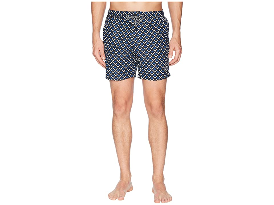 Scotch & Soda Medium length Mini-Motif Swim Shorts (Combo C) Men
