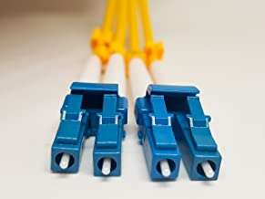 LC to LC 1M SingleMode Fiber Optic Patch Cable. LC/LC Duplex 9/125. Single Mode 1m(3.28ft) Fiber Patch Cable,Single Mode Fiber Cables LC to LC,3MM Yellow PVC.