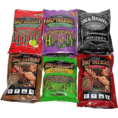 BBQrs Delight Pecan Wood Pellets 1lb Bag 3 Pack