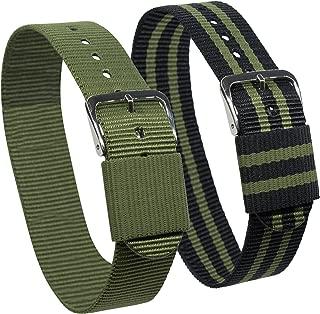 Dakota Unisex-Adult 45112 Easy Exchange, One Strap Nylon Watch Band, 20 mm, Black/Green