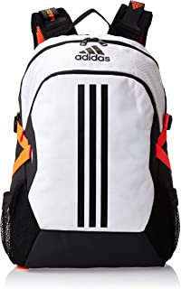 adidas Unisex Power 5 ID 30L Backpack, White/Black