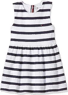 Tommy Hilfiger Baby Girls Stripe Sleeveless Dresses, White