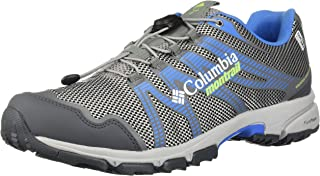 Columbia Women's Mountain Masochist IV Outdry Trail Running Shoe, steam, Jade Lime, 5.5 B US