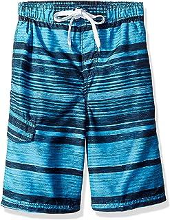 Kanu Surf Boys' Jetstream Stripe Quick Dry Beach Board Shorts Swim Trunk