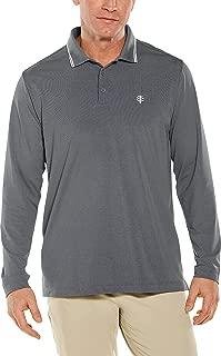 Coolibar UPF 50+ Men's Long Sleeve Links Golf Polo - Sun Protective