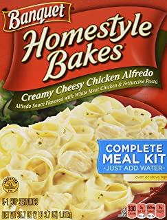 Banquet Home Style Bakes Creamy Cheesy Chicken Alfredo, 6 Count (Pack of 6)