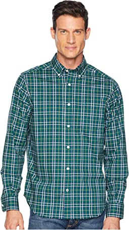 Long Sleeve Wear to Work Medium Yarn-Dyed Plaid Woven Shirt