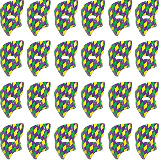 Beistle 60820-GGP 24 Pieces Phantom Mask, Green/Yellow/Purple