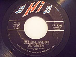 Al Green Let's Stay Together / Tomorrow's Dream 45 rpm single