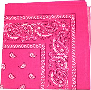 Neon Colors Paisley Bandana - 100% Cotton - Available in 1 Pack or 3 Pack