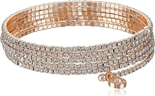 Social Glamour Crystal Multi-Row Stone Flex Bracelet