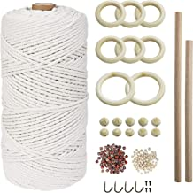 REKALRO Makrame touw van natuurlijk katoen, voor doe-het-zelf plantenhangers, knutselen, breien
