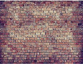 Fotobehang Bakstenen muur 3D 396 x 280 cm - Vliesbehang Woonkamer Slaapkamer Kantoor Hal Decoratie Muurschilderingen XXL M...
