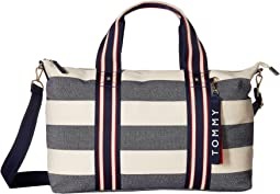 Classic Tote Convertible Weekender Woven Rugby