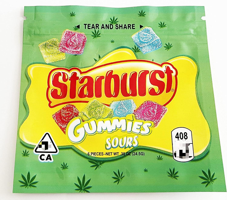 303 Bag Green Starburst Gummies heat-sealed Bags bag 408mg anti- New Shipping Free Shipping Houston Mall