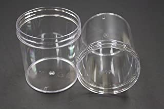 Mold-Rite - PJ016 - 16 Ounce (1 Pint) Clear Plastic PS (Polystyrene) Jar, 80 per package [Caps Sold Separately]