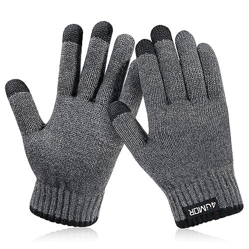 4UMOR Gants Tactiles Hiver Gants Tricotés Doux Elastique pour Ski,  Montagne, Randonnée, Sports 722dc3ef956