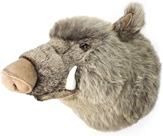 VIAHART Waverly The Boar | 17 Inch Stuffed Animal Plush Hog Head Trophy Wall Mount Bust | Shipping from Texas | by Tiger Tale Toys