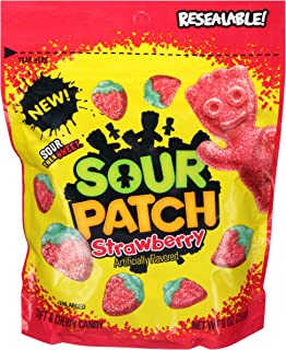 Sour Patch Kids Sweet and Sour Gummy Candy (Strawberry, 10 Ounce Bag, Pack of 12)