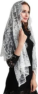 Eyelash Lace Vintage Floral Lace Scarf Lace Chapel Veil Mantilla Infinity Latin Mass S04