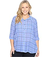 MICHAEL Michael Kors - Plus Size Multi Dressage Button Down Top