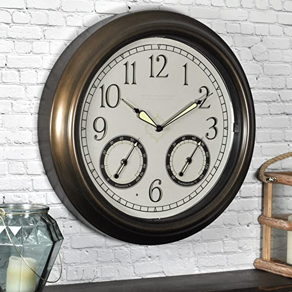 FirsTime Co FirsTime LED Trellis Clock 18 Oil Rubbed Bronze