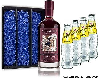 Gin Tonic Geschenkset - Sipsmith Sloe Gin Jahrgang 2015 0,5l 29% Vol  4x Schweppes Tonic Water 200ml inkl. Pfand MEHRWEG -Enthält Sulfite