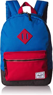 Herschel Heritage Kid's Backpack, Imperial Blue Red/Black Crosshatch, One Size