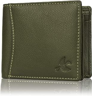 Hornbull Men's Olive Green Themes Leather RFID Blocking Wallet