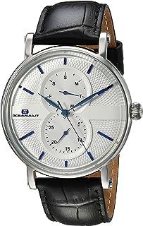 Oceanaut Men's Lexington Stainless Steel Quartz Watch with Leather Strap, Black, 21 (Model: OC0341)