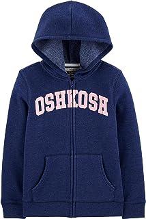 OshKosh B'Gosh Girls' Full Zip Logo Hoodie Indigo