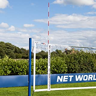 Vermont Volleyball Net Antennas | Pair of Volleyball Net Antennas | Red & White | Volleyball Sheath Included - [Net World Sports]