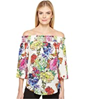 Karen Kane - Watercolor Floral Off the Shoulder Top