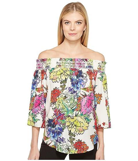 546ccf8dc4d54 Karen Kane Watercolor Floral Off the Shoulder Top at 6pm