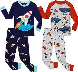 Sponsored Ad - Benaive Pajamas for Boys, Pjs for Boy Cotton Pajama, 2-Piece Children Pants Set
